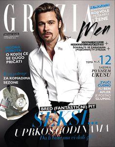 Brad Pitt on Grazia Men Serbia November 2012