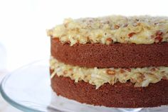 Rich German chocolate cake topped with the crunchy pecans and sweet, flaky coconut was all a girl could ask for on her birthday.