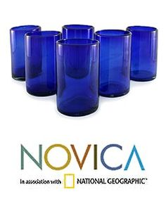 @Overstock - Add a touch of culture to your dining with this elegant drinking glass set  'Solid' glassware features a rich, deep cobalt blue color  Set of six glasses make a wonderful housewarming or wedding gifthttp://www.overstock.com/Worldstock-Fair-Trade/Set-of-6-Solid-Drinking-Glasses-Mexico/3374375/product.html?CID=214117 $50.99