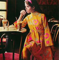 modeled by Colleen Corby, late 60s And 70s Fashion, Mod Fashion, Fashion Moda, Teen Fashion, Vintage Fashion, Sporty Fashion, Fashion Women, Winter Fashion, Disco Fashion