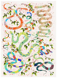 Hvass & Hannibal is a multi-disciplinary arts and design studio based in Copenhagen. Since its founders, Nan Na Hvass & Sofie Hannibal have w Art And Illustration, Illustration Design Graphique, Art Illustrations, Rainbow Serpent, Graphic Design Print, Conceptual Design, Desktop Wallpapers, Hd Wallpaper, Image Hd