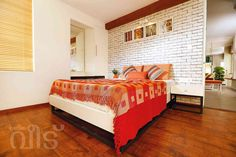 The Rising Sun Apartment by Shaji Vempanadan, Architect in Thiruvananthapuram,Kerala, India Apartment Projects, Traditional Bedroom, Eclectic Style, Toddler Bed, Flooring, Interior Design, House Styles, Inspiration, Furniture