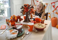Fall table scape for Kids