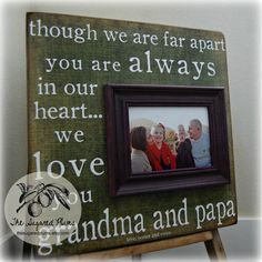 Grandparents Gift Personalized Picture Frame by thesugaredplums