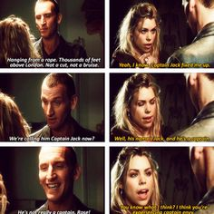 I can't say Captain Jack, it has to be Captain Jack Harkness Ninth Doctor, Doctor Who, Rose And The Doctor, Captain Jack Harkness, Sonic Screwdriver, Laughing And Crying, Rose Tyler, Classic Series, Torchwood