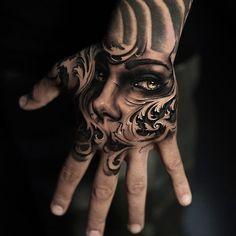 45 Fantastic Hand Back Tattoo:Portrait Hand Tattoo Art Design Hals Tattoo Mann, Tattoo Hals, Forearm Tattoos, Body Art Tattoos, Sleeve Tattoos, Small Tattoos, Hand Tats, Hand Tattoos For Guys, Neck Tattoo For Guys