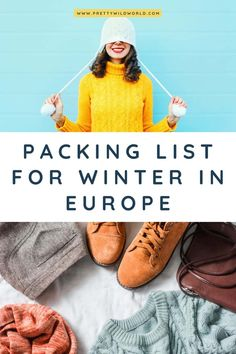 What to Pack for Winter in Europe + Printable Ladies Packing List! Winter Travel Outfit, Winter Packing, Cute Winter Outfits, Holiday Outfits, Outfit Winter, Winter Wear, Packing Tips For Vacation, Packing Lists, Airport Travel Outfits