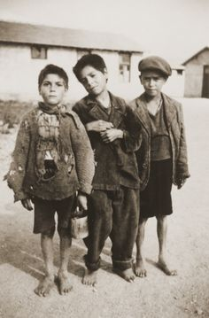 Three Gypsy boys in the Rivesaltes internment camp 1941.  (The one on the left looks so much like my son Eric)