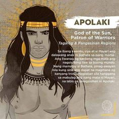 Apolaki and Mayari are Bathala's children with a mortal. The the light of their eyes serves as the light throughout the world. Filipino Words, Filipino Art, Filipino Culture, Philippine Mythology, Philippine Art, Mythological Creatures, Mythical Creatures, Filipino Tribal Tattoos, Samoan Tribal