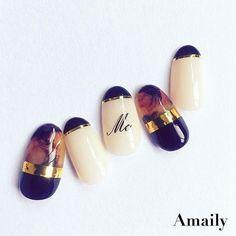 Beautiful in 2020 Nail Polish Art, Gel Nail Art, Japan Nail Art, Sculpted Gel Nails, Clean Nails, Instagram Nails, Nagel Gel, Perfect Nails, Nail Arts