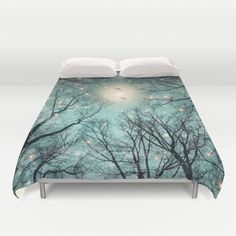 Nature+Blazes+Before+Your+Eyes+(Mint+Embers)+Duvet+Cover+by+Soaring+Anchor+Designs++-+$99.00