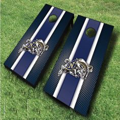 These racing striped NCAA Navy Midshipmen cornhole boards are great for displaying collegiate pride at tailgates, cookouts, and other outings. Includes...