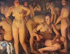 Zinaida Yevgenyevna Serebriakova (née Lanceray) (Russian painter) 1884 - 1967 Баня (Bath), 1913 oil on canvas 135 x 174 cm The State Russian Museum