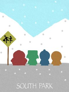 South Park Minimalist Poster.