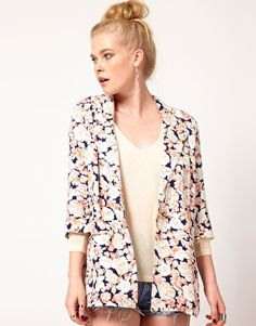 Minkpink 'When Doves Cry' Printed Soft Blazer