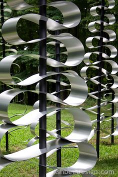 Garden Art by David and Marji Roy, Ashbee Design, Alumimum Totem Trees ©2014