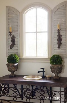 Shutters on the inside AND behind sconces