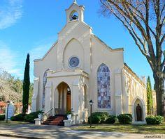 St. Paul's Catholic Church - Smithville, Texas by Blue Eyes and Bluebonnets, via…