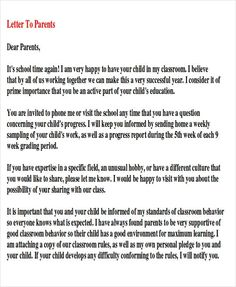 65 best parent letters images on pinterest preschool activities thank you letter to teacher sample thank you note to parents examples in word pdf spiritdancerdesigns Image collections