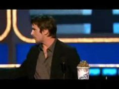 """Christian Bale @ the 2006 MTV Movie Awards - """"I want to thank [Chris Nolan] for getting rid of those bloody nipples"""" - Bale"""