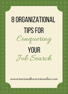 High Quality 8 Tips For Organizing Your Job Search