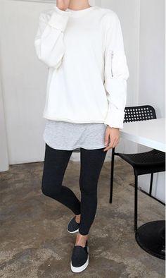 loungewear / minimalist / monochromatic / streetwear