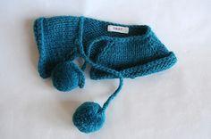 Pom Pom Collar #knitting #inspiration