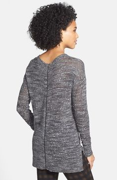 Caslon® Zip Back High/Low Sweater | Nordstrom $79