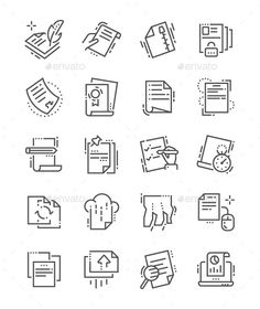Buy File Line Icons by PalauDesign on GraphicRiver. UI Pixel Perfect Well-crafted Vector Thin Line Icons Grid for Web Graphics and Apps with Editable Str. All Icon, Icon Set, Create Icon, World Icon, Class Notes, Simple Icon, Best Icons, Sketch Notes, Information Design
