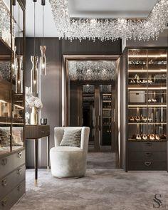 Home Interior Design, Interior Decorating, Interior Design Instagram, Decorating Tips, Bedroom Closet Design, Luxury Bedroom Design, Dressing Room Design, Luxury Closet, Cool Apartments
