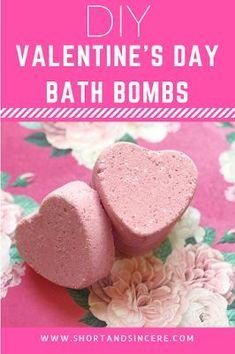 DIY Valentine's Day Heart Bath Bombs Heart-shapes bath bombs Perfect DIY Valentine's Day Gift!