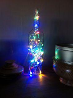 Multicoloured wine LED lamp