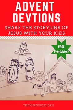 Free Advent Christmas Printables for Kids.  Share the full storyline of Jesus with your children this Christmas, from Genesis to Pentecost, learn why Jesus came to earth.
