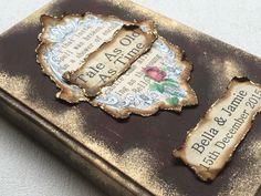Handmade fairytale wedding guest book, beauty and the beast