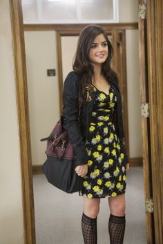 Remember this #Aria outfit? What's your favorite way to wear knee high socks? #PLL