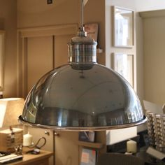 giant nickel suspension lamp by distinctly living   notonthehighstreet.com