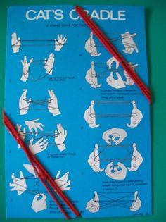 Vintage Cat's Cradle Game Toy Instructions String NOS on Card #astustudios