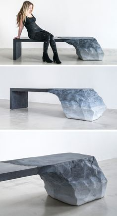 """Brooklyn-based designer Fernando Mastrangelo, has designed this unique and sculptural bench as part of his """"Drift"""" collection."""
