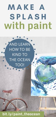 Come learn how to dispose of your used paint water in  planet friendly way :) Ocean Pollution, Old Plates, Hope For The Future, Painting Workshop, Orcas, Paint Pens, Painting Techniques, Some Fun, Watercolor Paper