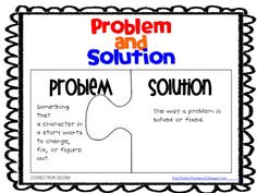 Problem and Solution Freebie Reading Strategies, Reading Skills, Teaching Reading, Reading Comprehension, Reading Activities, Reading Groups, Kindergarten Reading, Guided Reading, Kaizen