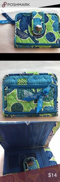 """🌲 Vera Bradley Wallet Retired Doodle Daisy pattern. 3/12-2/13. Snap close wallet 5 x4.5"""". Has been in storage. NWOT. One stain inside as pictured and reflected in price. Very cute!  2 Bill slots, 4 card slips, 1 ID window. Please review all pictures prior to purchase. If you have questions I'm happy to respond!! All Vera purchases are recorded in order to ensure a fair and equitable transaction for the buyer and seller. 🤗🤗 Vera Bradley Bags Wallets"""