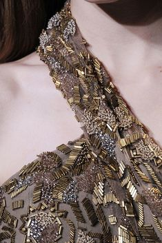 27 Ideas Embroidery Dress Haute Couture Elie Saab For 2020 Tambour Beading, Tambour Embroidery, Hand Work Embroidery, Couture Embroidery, Embroidery Fashion, Hand Embroidery Designs, Embroidery Dress, Couture Details, Fashion Details