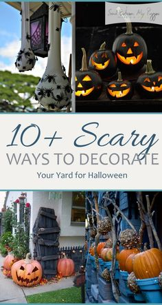 10+ Scary Ways to Decorate Your Yard for Halloween| Halloween Porch Decor, How to Decorate Your Porch for Halloween, Halloween Decor, Yard Decor, Yard Decor Ideas, DIY Yard Decor, Popular Pin