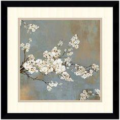 Featuring a dainty floral design, this Amanti Art Ode to Spring II framed wall art is a beautiful pick that's sure to complement almost any decor. <ul> <li>Satin black frame finish</li> <li>Artist: Asia Jensen PRODUCT DETAILS</li> <li>17.38''H x 17.38''W x 0.875''D</li> <li>Acrylic, paper, wood</li> <li>Vertical or horizontal display</li> <li>Attached hanging wire</li
