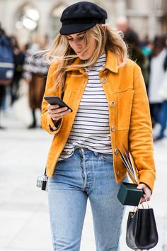 Street Style: A Casual Cool Way To Style A Bright Suede Jacket