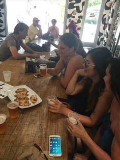 5/21/2017 - Enjoying empanadas and local la rubia beer on The Wynwood Art District Food Tour at Mister Blocks