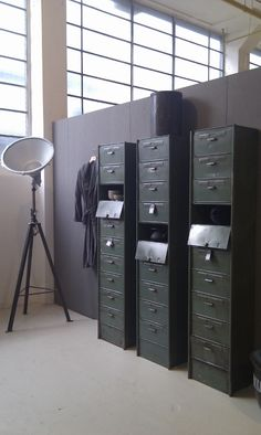 Industrial vintage French lockers