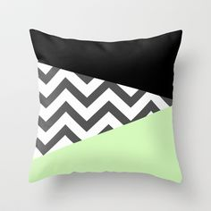 Color Blocked Chevron 3 Throw Pillow by Josrick - $20.00