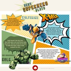 The forth and final part of the Superhero infographic! Enjoy more on http://zzzslots.com  ! #freeslots #casino #superheroes #marvel #dc #comics