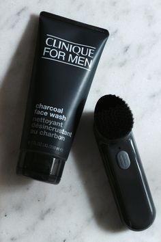 Clinique for Men Charcoal Face Wash + Sonic Deep Cleansing Brush // Wrapped With A Beau • 2015 Holiday Gift Guide — the BEAU